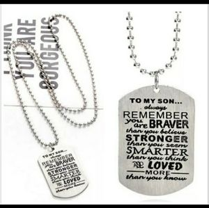 Jewelry - To My Son: Remember Dog Tag